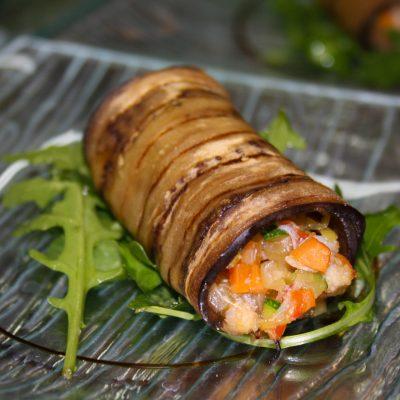 Cannelloni d'aubergine au crabe - L'antre Gourmand