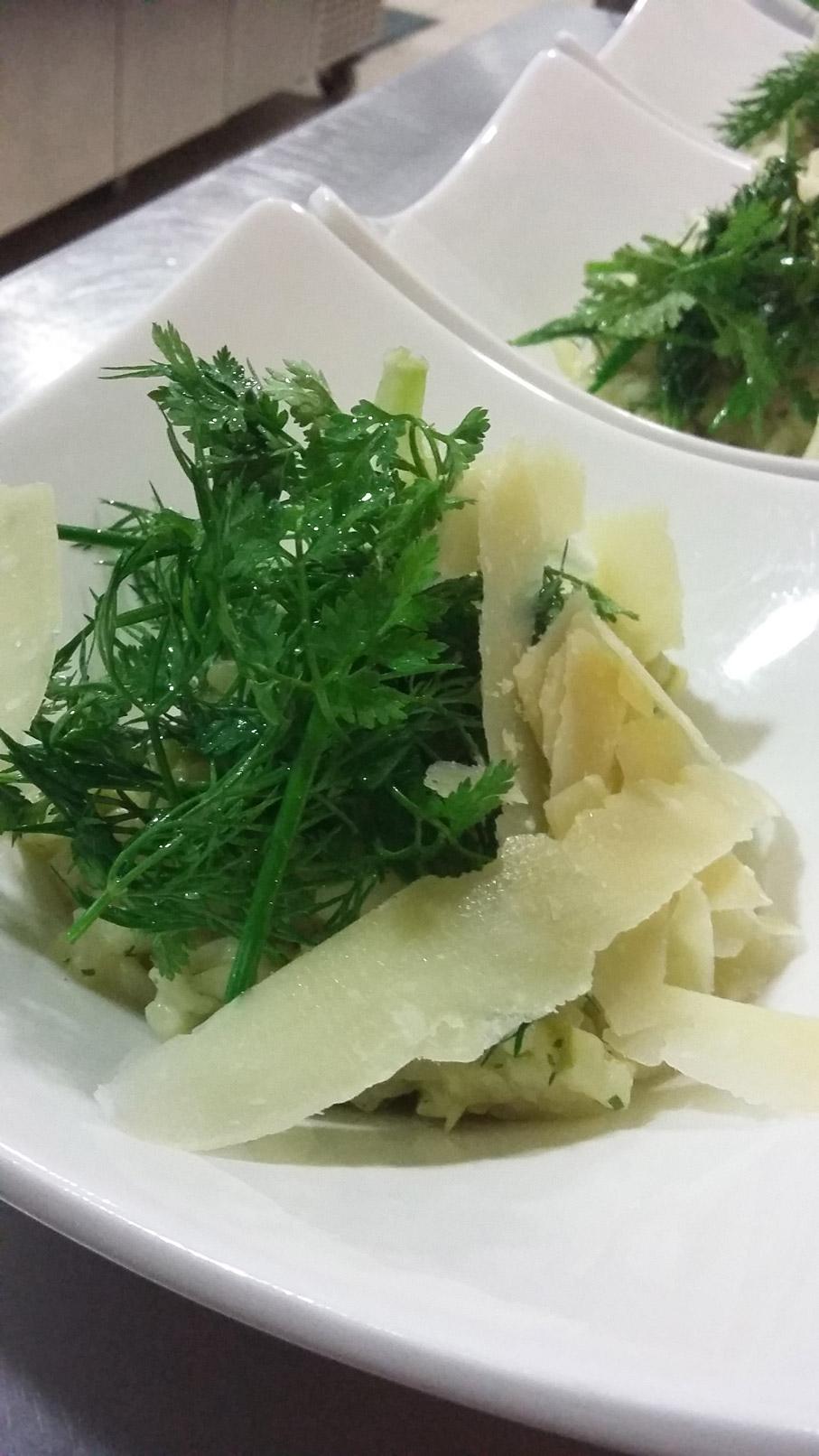 Risotto aux herbes et copeaux de parmesan - L'antre Gourmand